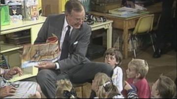 Bush Library jogs memories of presidential visit to Lewiston school