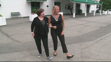 Cindy Williams and Cindy Williams attempt the opening of 'Laverne & Shirley'