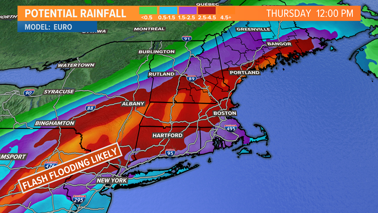 Ida's remnants bring heavy rain, flood watches throughout southern Maine
