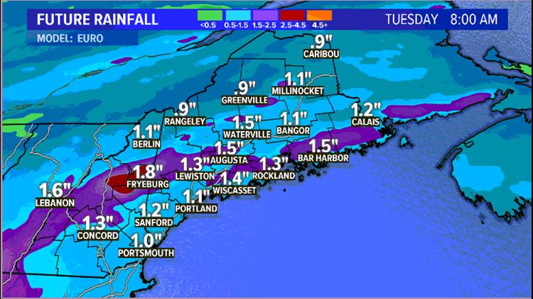 Forecast Rain Totals