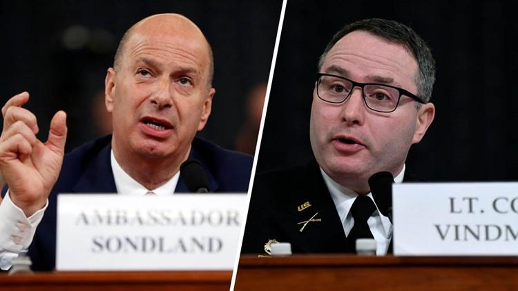 Trump fires key impeachment witnesses Sondland, Lt. Col. Vindman in purge