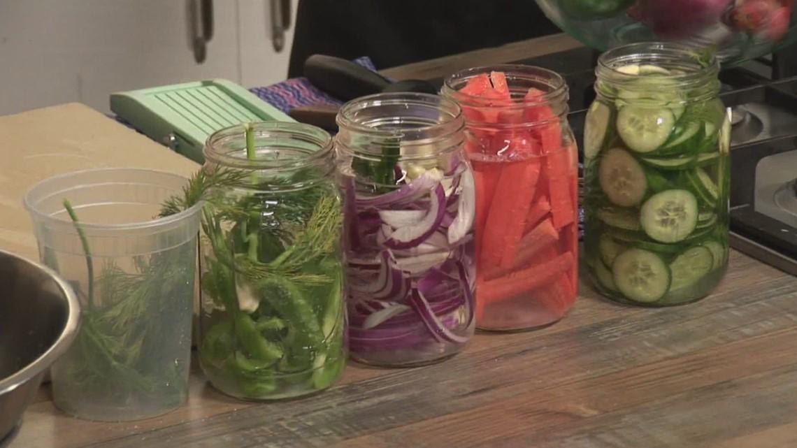 Pickling vegetables, to make them last a little longer