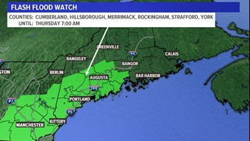 Flash flooding possible overnight into Thursday