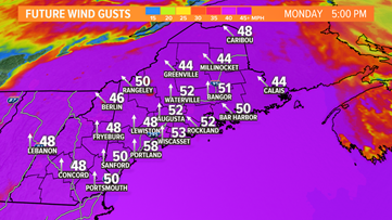 Destructive wind, more power outages expected Monday