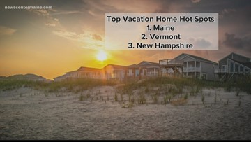 Maine ranked top state for vacation homes