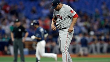 Tampa bats send Sox into fourth-inning freefall