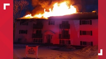 5 people injured in massive fire at Augusta apartment complex