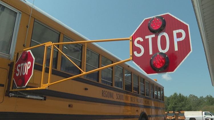 School bus extended stop arm 2