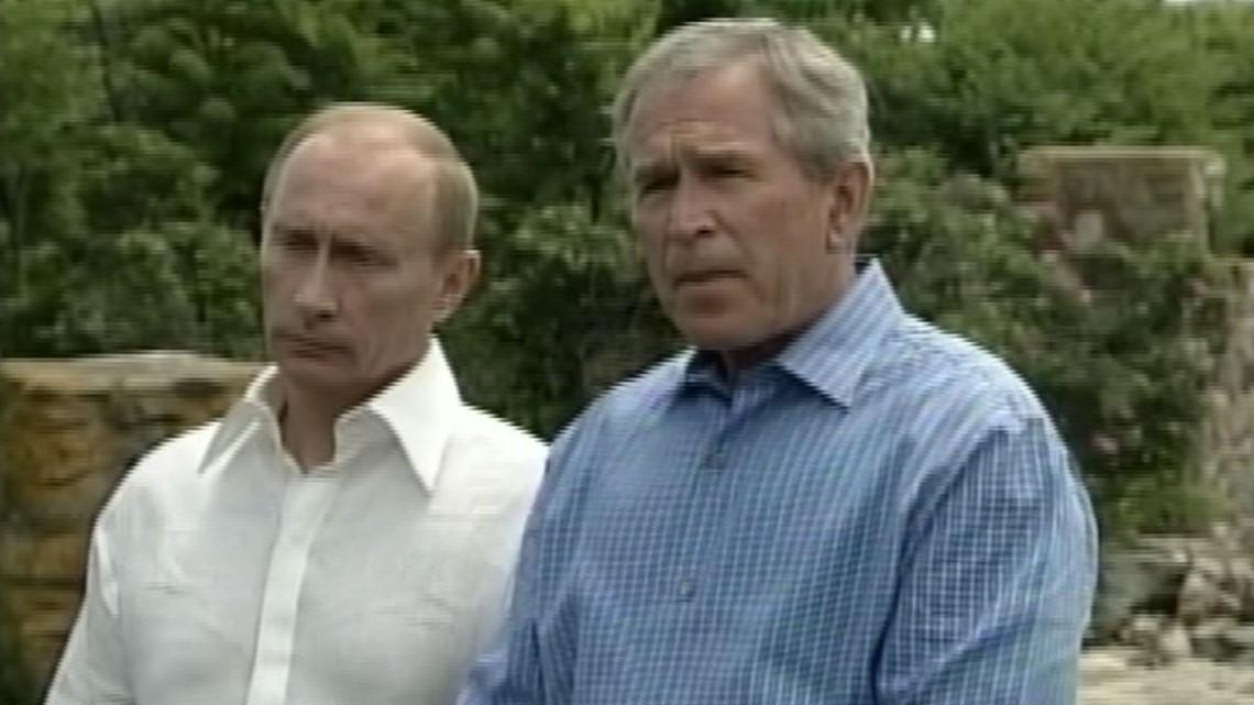 WATCH: In 2007, Putin met with Bush at Walker's Point in Kennebunkport