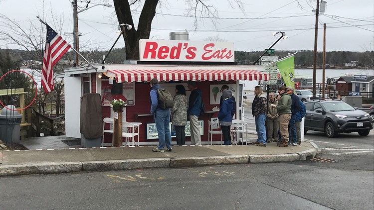 Red's Eats in Wiscasset, 2019