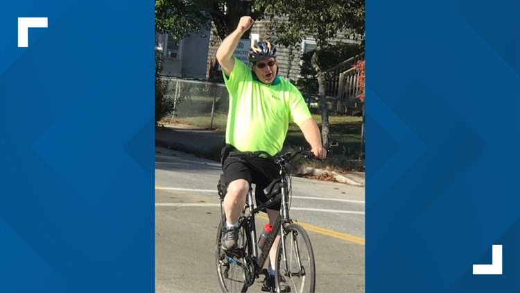 Brunswick man bikes to support lung health after losing friend to COVID-19