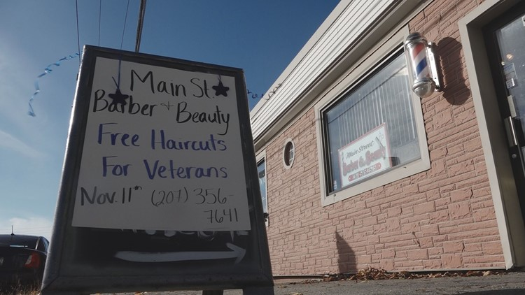 Brewer barbershop 'cuts' it up for free on Veterans Day