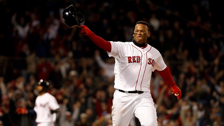 Devers ends the long wait for a Red Sox home win in 9th inning of 13th game