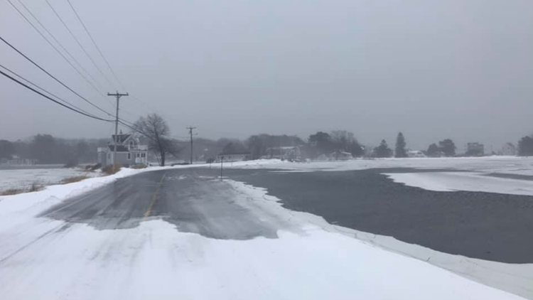 Dyke Road flooding in Kennebunkport