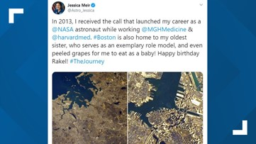 Maine astronaut Jessica Meir shares photos and memories of Boston from International Space Station