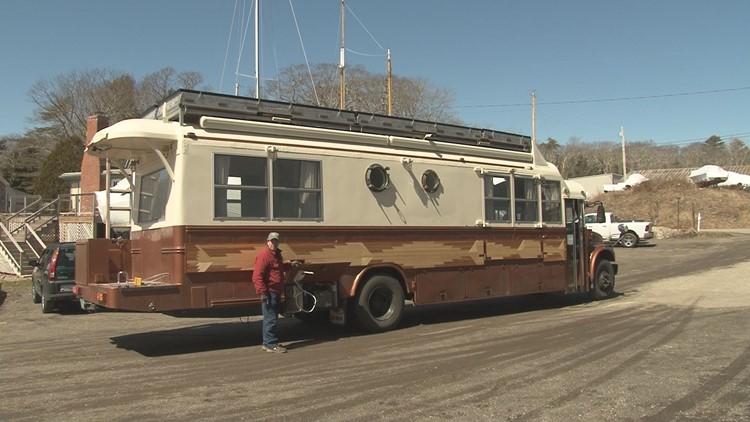 School bus transformed into million for Million dollar motor homes
