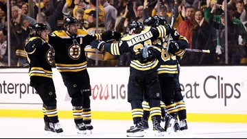 Bruins beat Maple Leafs 5-1 in opener of playoff series