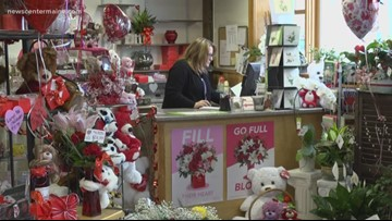 Snowstorm hurts Valentines Day business