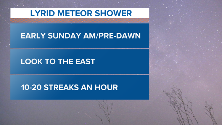 Lyrid meteor shower peaks this weekend: when and where to see it
