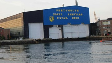 Members of NH's delegation visit with shipyard workers