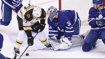 Toronto goalie ups his game as Bruins up the pressure