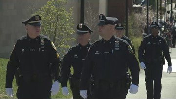 'We all stand together, we all fall together': Police travel to pay respects to Cpl. Cole