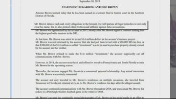 Patriots WR Antonio Brown denies rape accusation