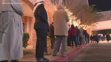 People get to visit President Bush inside Houston Church