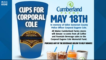 Cumberland Farms to donate 10¢ from drink sales Friday to Cpl. Cole Memorial Fund