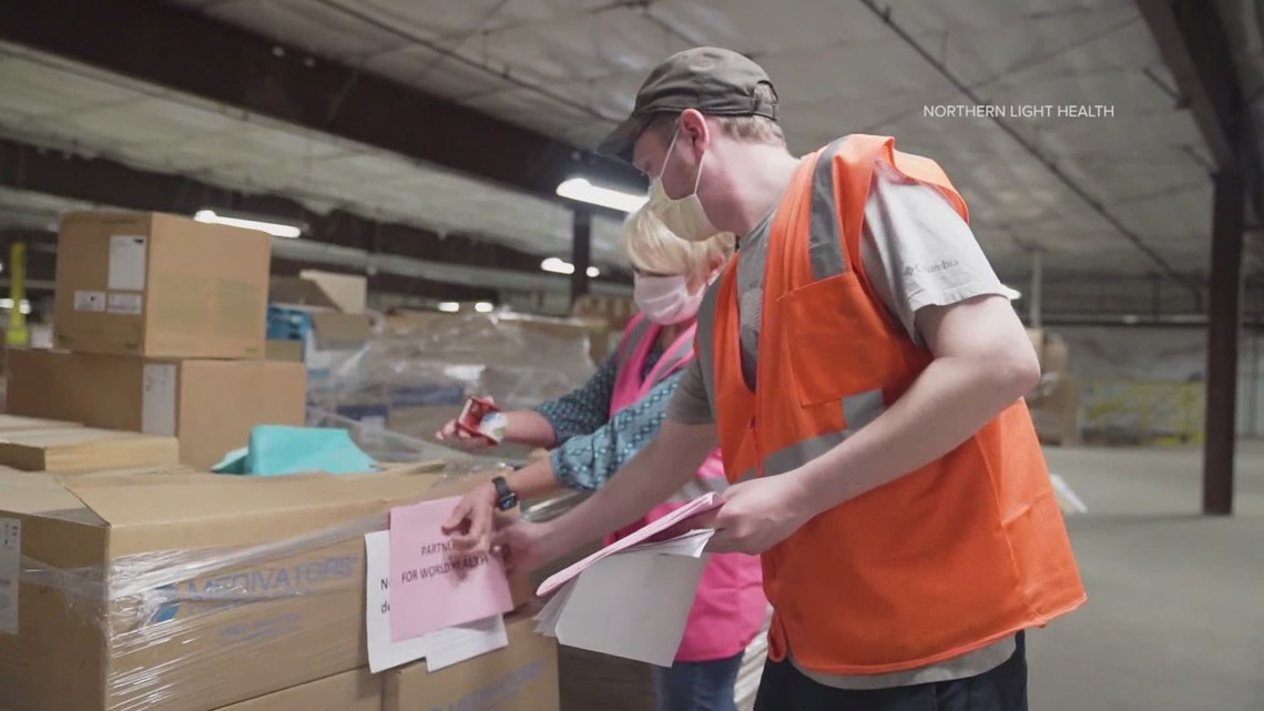 Northern Light Health sends surplus medical supplies to India