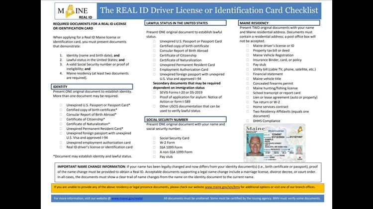 Maine starts issuing REAL IDs | newscentermaine com