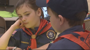 First group of girls join Boy Scouts of America