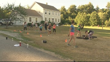 An outdoor workout at Sunrise Fitness