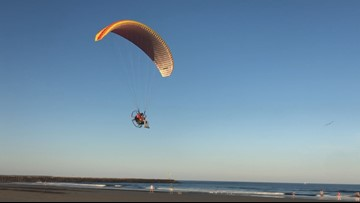 Popularity of powered paragliding soaring in Maine