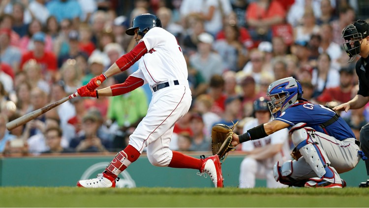 Their 5-0 win over the Rangers gave the Red Sox a 3-game lead over the second-place Yankees which only lasted until N.Y. won the back half of their doubleheader