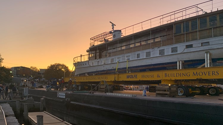 Presidential Yacht Sequoia Docks at Maine Harbor for Restoration