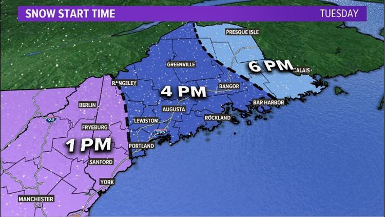 Snow Start Times Tuesday