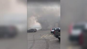 Firefighters battle boat fire at Portland Pier