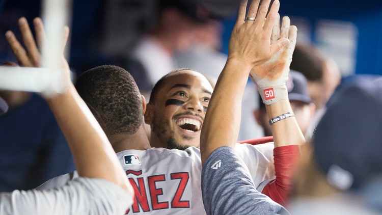 An AL MVP candidate, Mookie Betts was 4 for 4 to raise his average to .347 with 59 RBIs and a 1.102 OPS