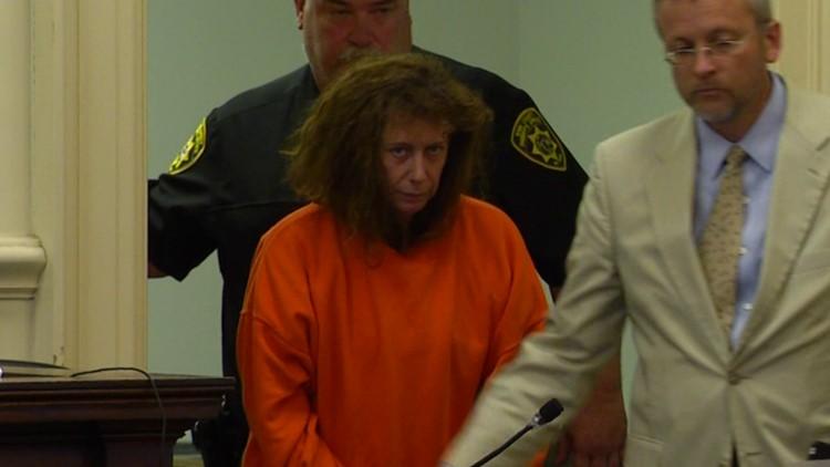 Carol Sharrow in court with lawyer
