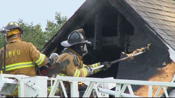 Second floor burns as residents flee South Portland home