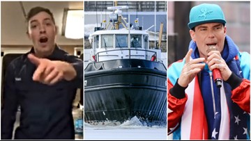 MUST SEE VIDEO: What do this coastie, this boat, and this rapper all have in common? Ice Ice Baby.