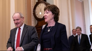 Maine Sen. Collins breaks from party, but delays witnesses as Senate finalizes impeachment trial rules