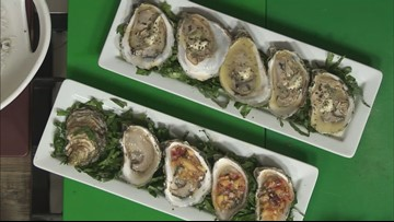 Peach ginger & mint mignonette oysters