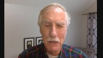 Maine Senator Angus King criticizes the Trump Administration and its handling off coronavirus, COVID-19 PPE distribution