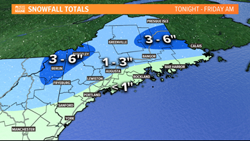 Maine's first snow expected Thursday night