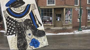 Gardiner woman makes a quilt for wife of fallen officer
