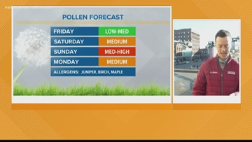 Pollen count about to skyrocket