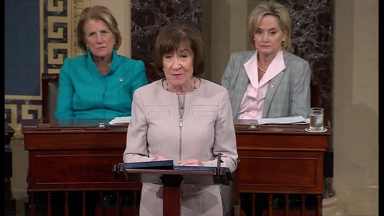 Collins strongly voiced her disapproval of 'dark money' groups during her speech on the Senate floor regarding her decision to confirm Justice Kavanaugh.