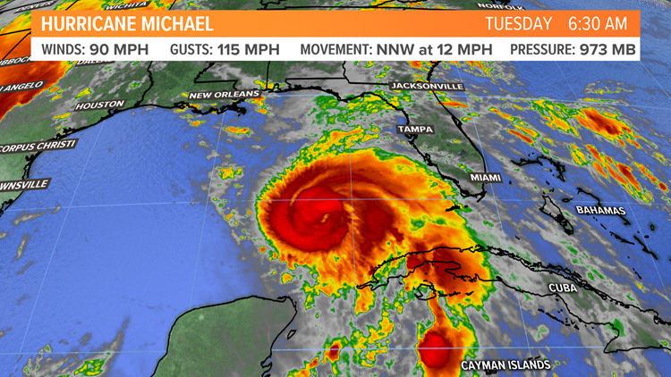 Category 4 Hurricane Michael being felt on Florida coast
